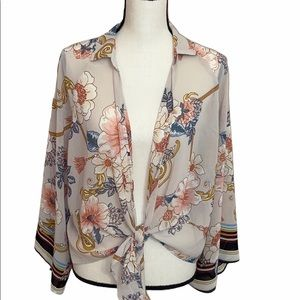 Timing Floral Top Size Large